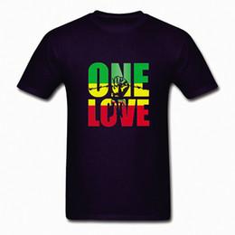 2019 ein benutzerdefiniertes t-shirt Bob Marley Eine Liebe Jamaika Reggae Hip Hop Rap Musik Coole Männer T-shirt Benutzerdefinierte DIY Grafik T-shirts günstig ein benutzerdefiniertes t-shirt