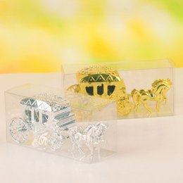 Wholesale Box Carriage - New Cheapest Cinderella Carriage Wedding Favor Boxes Candy Box Royal Wedding Favor Boxes Gifts Event & Party Supplie 10pcs