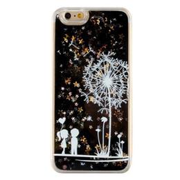 Wholesale Romantic Iphone Cases - White dandelion Mandala Elephant Romantic Love PC Back phone Case Cover For iPhone 6 6S 5 5S SE