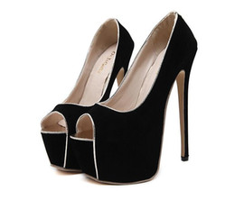 Wholesale Lolita High Heels - DiJiGirls 16cm Heel Lolita Bow Lace High Heels Pumps Women Ankle Strap Thick Bottom Wedding Shoes Ladies Sexy Pumps Mary Janes