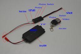 Wholesale Motion Detected Hidden Cameras - S01 HD SPY Hidden Camera DIY Module mini camera Video DV DVR Motion Detect Remote W5