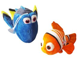 "Wholesale Toy Cartoon Clowns - Cartoon movie 8"" 20 CM 2pcs Lot The clown Fish Plush Toys Stuffed Animals Give Child Holiday Gifts"