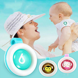 Wholesale Cute Buttons Wholesale - Hot Anti-mosquito Button Cute Animal Cartoon Mosquito Repellent Clip for Baby Buckle Non-toxic Mosquito Repellent Buckle Pest by DHL free