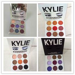 Wholesale Colors Eyeshadow - THE BURGUNDY PALETTE | Kylie Cosmetics Jenner Kyshadow eye shadow Kit Eyeshadow BRONZE and BURGUNDY Palette Preorder Cosmetic 9 Colors