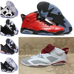 Wholesale Bulls Baseball - New color ! Air retro 6 VI mens Basketball shoes Carmine Black Cat Infrared sports blue Olympic Slam Dunk Oreo Angry bull sport shoes