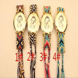 Wholesale Handmade Wool Dresses - Fashion women wool weave bracelet watch Bohemia design ladies handmade quartz dress 2015 wrist dress monkey watches