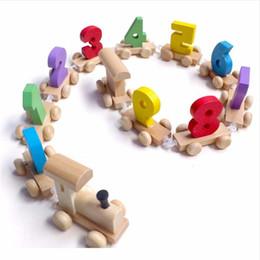 Canada Montessori Train En Bois Doux Figure Figure Jouet Avec Nombre Motif 0 ~ 9 Cadeau Pour Bébé Enfants Début Jouet Éducatif supplier soft educational toys for babies Offre