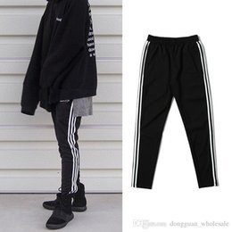 Wholesale High Stocking Xl - dongguan_wholesale in stock High Quality Mens Kanye West Jogger Sweatpants Male Justin Bieber High Street Hip Hop Pants Skinny Jogger Trouse