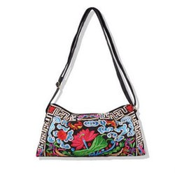 Wholesale Phone Carriers - Wholesale- New Vintage Embroidery Shoulder bags!Hot embroidered Women bag gorgeous cross-body Lady's handbags fashion shopping bag Carrier
