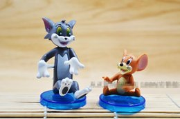 Wholesale Tom Jerry Figures Toy - 161140 Cartoon Tom and Jerry 8cm PVC Action Figure Collectible Model Toy Hot Sales Free Shipping