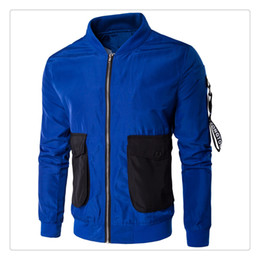 Wholesale Korean Style Jackets For Men - Jackets for Men Autumn Korean Style Fashion Big Pocket Design Men's Casual Sports Stand Collar Jackets US Size:XS-3XL