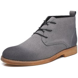 Wholesale Ankle Boots Mens Dress Shoes - Wholesale-Mens Chukka Boots Suede Designer Boot Men Pointed Toe Dress Boot 2016 Winter Male Botas Masculino Lace Up Men's Fashion Shoes
