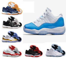 Wholesale Embroidered Pink Ivory Lace - Air retro 11 XI University blue Metallic Gold Navy Gum bred Varsity Red concord 72-10 space jam men women basketball shoes sports Sneaker
