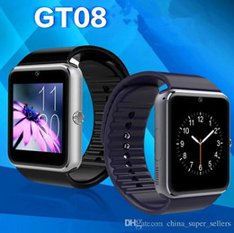 Wholesale Gps Tracker Watch Times - GT08 smart watch support WeChat QQ card camera function l Bluetooth real-time step sleep monitoring smart watch