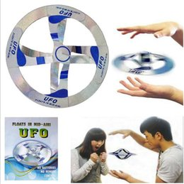 Wholesale Mystery Magic Ufo - 200pcs Mystery Mid Air UFO Floating Fly Saucer Magic Toy Magician Trick Props Show Tool Magic Trick Toy For Kids Y084