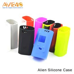 Wholesale Cover Box Design - New design TFV8 Smok Alien 220W colorful silicone case skin silicone cover silicone sleeve for Smok alien 220 w Box mod