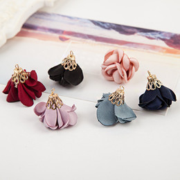 Wholesale Korean Hair Brooches - Free Shipping 20pcs lot Korean Newest Style Dia 3cm Fashion Fabric Flower For DIY Jewelry Hair Band Hair Clips Brooch Garment Decoration