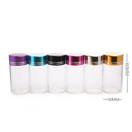 Wholesale Aluminum Vials - 25ml Glass Essential Oils Bottles With Colorful Aluminum Lid Empty Glass Vials For Perfume Package fast shipping F2017200