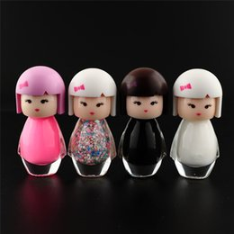 Wholesale Doll Nail Polish - Wholesale-1PCS BK Super Cute Lovely Baby Doll Design Gel Nail Polish Art Bright Glitter Pure Color Varnish Sock Off Gel Beauty Makeup Tool