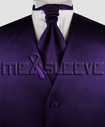 Wholesale Men S Grooming Set - dark purple groom Tuxedo Waistcoat Sleeveless sets