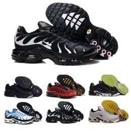 Wholesale New Shoes For Army - Cheap Hight Quality Brand New Air Sports TN Running Shoes For Men Black White Mens Athletic jogging Tennis Shoes Grey Man Training Sneakers