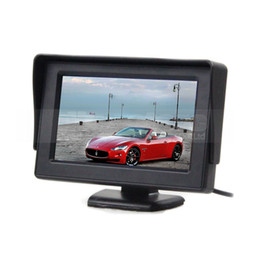 Wholesale Lcd Screen Camera Input - 4.3inch Car Monitor Rear View Monitor TFT LCD Screen 2 Video Input for Car Van Truck Camera