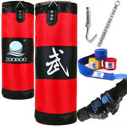 Wholesale Punch Target - Boxing Sandbags Striking Drop Hollow Empty Sand Bag with Chain Martial Art Training Punch Target Training Fitness Fighter Boxing Bag