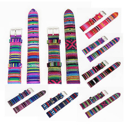 Wholesale Kinds Watch Strap - Wholesale-18 mm Length 7 Kinds Color Denim Fabric Canvas Cloth Men Women Wrist Watch Band Watches Strap