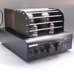Wholesale Audio Amplifier Tubes - AV388 Bluetooth Vacuum Tube Stereo audio Amplifier 35w + 35w USB MP3 Play BASS Audio output 2.1 Tube amp