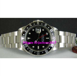 Wholesale Ceramic Ring Stainless Steel - Christmas gift 8 style Luxury Stainless GMT II black Ceramic bezel 116710 Stainless steel watch Black ceramic ring black dial red needle