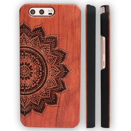Wholesale 3d huawei phone case - For Huawei P10 Wood Case P10 plus 3d Engraving Wooden Bamboo Phone Cover with ultra-thin PC Hard Back Shell For Huawei Ascend P10