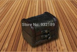 Wholesale Decoration Jewelry Box - Factory directly,Free Shipping sell well antique shabby wooden trinket box treasure chest wedding decoration