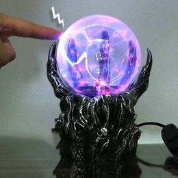 Wholesale Glass Plasma - New Arrival Glass Lamps Touch Sensor Lamp Magic Lamp Glass Ball Electrostatic Ghost Hand Lightning Plasma Ball