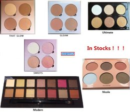 Wholesale High Quality Face Foundation - Pink Glow Kit kit Makeup Face Foundation Powder Blusher Palette Cosmetic Bronzers & Highlighters Shining Package Very High Quality
