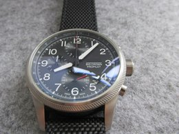 Wholesale Pilot Wristwatch - high quality men watch 41mm chronograph chrono quartz BIG CROWN PRO PILOT watch wristwatch