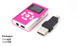 Wholesale Free Card Readings - Wholesale- FedEx Free Metal Mini MP3 Player with LCD Screen With Micro TF SD Card Slot + Earphone + USB Cable