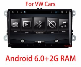 "Wholesale Gps Volkswagen Jetta - 2G RAM 9 "" VW Android 6.0 Car DVD player Volkswagen GOLF 5 Golf 6 POLO PASSAT SKODA CC JETTA TIGUAN TOURAN GPS"