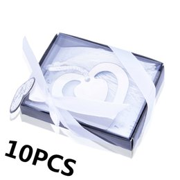 Wholesale Wholesale First Communion - Wholesale- 10PCS Bulk My Heart Bookmark Party Favours Souvenirs First Communion Birthday Baby Shower Wedding Favors and Gifts For Guest