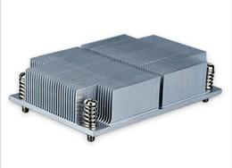 Wholesale Heat Sink Radiator - Christmas LGA 2011 Square Narrow 6061 6063 aluminum skived fin heat sink Cpu radiator with retail pack