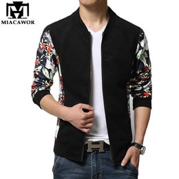 Wholesale Jaqueta Slim Baseball - Wholesale- Plus Size 5XL Leather Sleeves Men Jacket European Brand Design Jaqueta de couro Fashion College Baseball Jaqueta Masculina MJ232