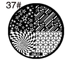 Wholesale Stamping For Nail Art - Wholesale- DIY fashion steel nail Stamp Stamping Image Konad Plate Print Nail Art Template Plate for Women Lady Beauty Tool 1pcs lot om37