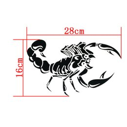 Wholesale Opel Mirror - car-styling Car Stickers For AUTO Motorcycle Ferocious Scorpion Pattern 28cm Stickers For bmw vw ford toyota kia opel renault