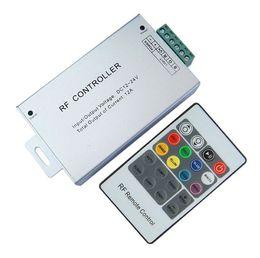 Módulos rf on-line-12A sem fio RGB Led RF 20 chaves controle remoto (carcaça de alumínio), controlador DC12V-24V rgb para RGB Strip e Módulo