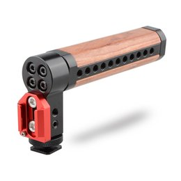 Wholesale Dslr Shoe - CAMVATE Top Cheese Handle Wooden Grip with Shoe Mount