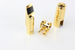 Wholesale Mouthpieces For Saxophone - Dukoff Gold and Silver Tenor Bb Metal Jazz Sax Mouthpiece Size 5~9 Tenor Saxophone Mouthpiece Instruments Eb Tone Mouthpiece