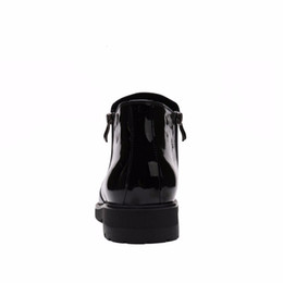 Wholesale Mens Business Boots - Fashion zipper black mens ankle boots business shoes patent leather mens boots office mens dress shoes
