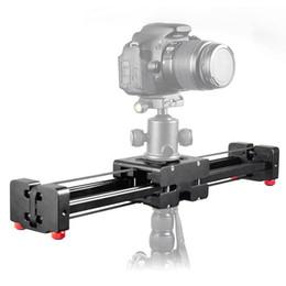 Wholesale Dslr Slide - DSLR Camera Compact Retractable Track Dolly Slider 50cm Rail Shooting Video Stabilizer 100cm Actual Sliding Distance