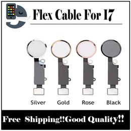Wholesale Oem Home Button - For iPhone 7 7G 7P 7+ 7 Plus New OEM Home Menu Button Flex Cable + Key Cap Assembly Parts