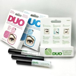 Wholesale Duo Eyelash Glue Clear White - New arrival Brand DUO Eyelash Adhesives Eye Lash Glue brush-on Adhesives vitamins white clear black 5g New packaging makeup tool