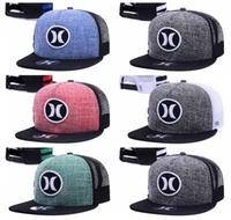 Wholesale Casual Order - Hurley Cap Summer Street Snapback Hats Fashion Men Woman Hip Hop Casquette Baseball Sport Panel Popular More Colors Ball Gorras mix order